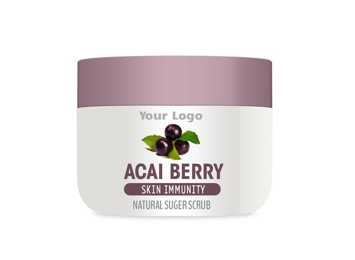 Private Label Acai Berry Body Scrub